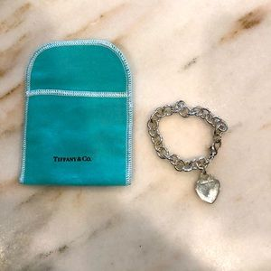 Tiffany and Co heart charm bracelet